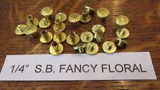 "CHICAGO SCREW 1/4"" SOLID BRASS FLORAL 100pcs Leather Belt Fastener Saddlery S.B."