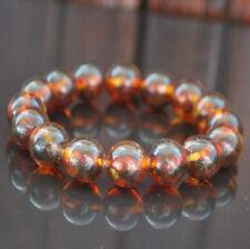 cognac genuine 15 beads 13mm Baltic Amber Beads Bracelet 18 gr
