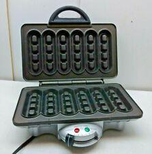 Villaware Uno Electric Non-Stick Waffler Six-Stick Belgian Waffle Maker Gray