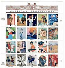Us #3502 a-t Mnh, American Illustrators Sheet, Fv $6.80 (2001)