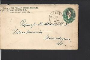 EXETER, NEW HAMPSHIRE 1893 COVER ADVT THE PHILLIPS EXETER ACADEMY.
