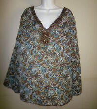 **METRO 7** Woman Embellished Bluse Plus Size ((18W/20W)) 100% Polyester.New