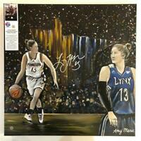 "Lindsay Whalen Auto MN Lynx Original Canvas Painting 20""x20"" Amy Marie Art!"