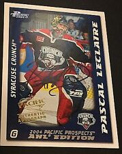 PASCAL LECLAIRE 2003-04 Pacific AHL Prospects AUTOGRAPH Pack Pulled AUTO # /500
