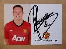 2012-13 Phil Jones Signed Man Utd Club Card (4533)