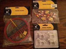 K-Line by Lionel Circus Accessory Asst. Horses, Figures & Rings & Things NEW!