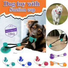 Multifunction Pet Dog Toys Molar Training Chew Clean Teeth Safe Elastic 5 Colors