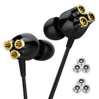 3 Dynamic Driver HI-FI Headphone Super Bass Earphone Sport Headset Earbuds Mic