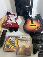 Sony Playstation 3 PS3 Fat Console Set Bundle 40GB - With Games Guitars And More