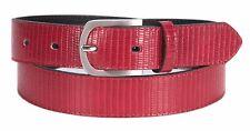 Tamaris Leather Belt W120 Gürtel Accessoire Bordeaux Violett Neu