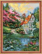 "Counted Cross Stitch Kit RIOLIS 1394 - ""Water Mill"""