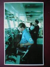 POSTCARD RP WWI FALKLANDS TASK FORCE - HMS SHEFFIELD - THE BRIDGE