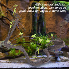 Artificial Reptiles Vine Climber Jungle Forest Bend Branch Terrarium Cage Decor
