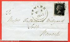 """SG. 2. A1 (2). AS42. """" KD """". 1d black. Plate 6. State 2. A used example on cover"""