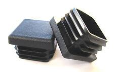 "50 - 1"" Square Tubing Plastic Plugs 1 Inch End Cap Fits 11-18 Ga 1x1 Tube Post"