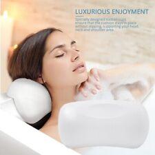 PU Bath Pillow Bathtub Spa Head Rest Neck Support Back Comfort Tub Holder White-