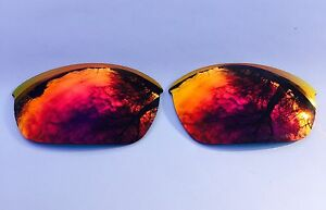 ENGRAVED POLARIZED FIRE RED MIRROR REPLACEMENT LENSES FOR OAKLEY HALF JACKET 2.0