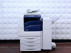 Xerox WorkCentre 7225 Color MFP Copier Printer Scan  Email USB Finisher ~ 7220