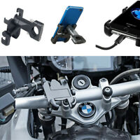 1x Motorcycle ATV Phone Black Metal Holder Support Telephone GPS Handlebar Stand