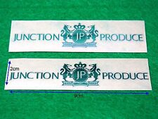 """New 2pcs Silver Color 3D """"JUNCTION PRODUCE"""" VIP Style Car Sign Decal Sticker"""