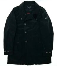 Men's Armani Jeans Navy Blue Shimmer Trench Coat Jacket - 52 L - RRP £350