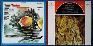 EDGAR VARESE / AMERIQUES + NOCTURNAL - VANGUARD LABELS  - 2 LP LOT