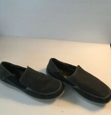 Crocs Mens Santa Luxe Loafers Blue Size 12  M 202056 Canvas Slip On Shoes