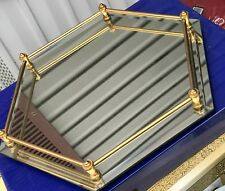 Vintage Golden Crown E& R Vanity Tray Mirrored Lovely