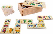 Domino Fahrzeuge Dominosteine Steine Dominospiel Kinder Legespiel Klötze Holz