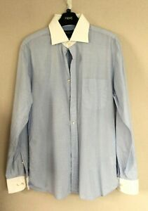 HACKETT LONDON FINEST ITALIAN COTTON long sleeve shirt small ch42 striped