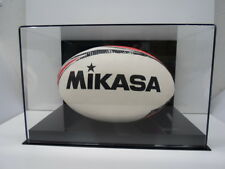 Rugby ball acrylic display case 85% UV filter full size memorabilia black back