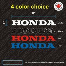 2X HONDA 8'' LOGO stickers COLOR CHOICE vinyl decal autocollants sticker