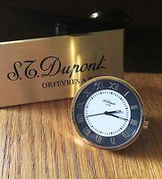 S.T.Dupont Reisewecker, Tischuhr, wunderschöner Zustand, volle Funktion, selten