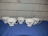 Royal Stafford Red White Floral Tea Cups ONLY Numbered Set of 5 TEA CUPS ONLY
