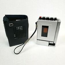 Vintage SONY TC-55 Cassette Tape Recorder Leather Case Strap Superscope Parts EX