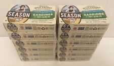 Season Sardines in Olive Oil, 4.375-ounce (12 ct) FRESH & FREE PRIORITY SHIPPING