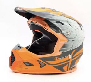 Fly Racing Toxin Resin Orange/Khaki Helmet Sz XS PN 73-8528XS MIPS