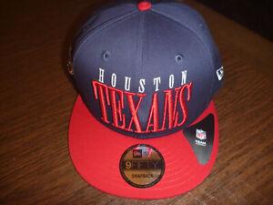 HOUSTON TEXANS NEW ERA 9FIFTY NFL TEAM TITLE BLUE & RED COTTON SNAPBACK HAT OSFM