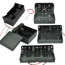 1x/2x/3x/4x D Cells Battery Holder Case Storage Box with Wire Leads For R20 UM1
