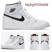 Size 17 Nike Air Jordan Retro 1 OG High Premium Ying Yang White 555088 102
