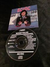 AC/DC MONEYTALKS CD PROMO SAMPLE ACDC AUSTRALIA 656500 2  ALBERT PRODUCTIONS