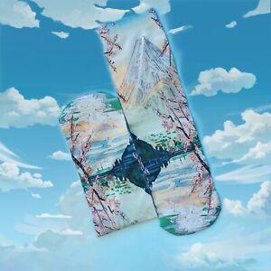 Fuji Mountain Socks. Japanese Painting Socks. Tube Socks. Photo Print Socks.