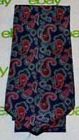 CHARLESTON TIE RACK Navy Blue Red Green Paisley 100% Silk Tie Made in Italy