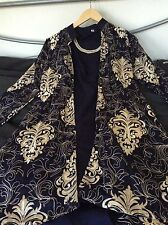 Navy embroidered jacket - Pakistani/Indian outfit by Henna Mehndi (Size 8)