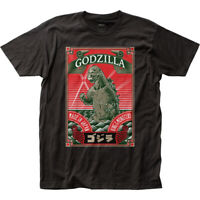 Godzilla Made In Japan T Shirt Mens Licensed Pop Culture Movie Retro Tee Black