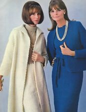 Vintage Crochet PATTERN to make Long Coat Skirt Suit Short Jacket Dress Suit Coa