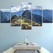 Machu Picchu Peru 5 panel canvas Wall Art Home Decor Poster Picture