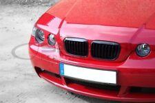 schwarz glänzende Nieren Frontgrill 3er BMW E46 Compact M3 salberk 4601