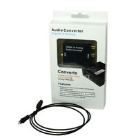 Digital Coaxial Optical Toslink Signal to Analog L/R Audio Converter Adapter