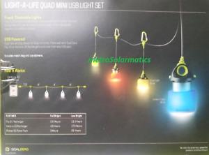 Goal Zero Light-A-Life Mini Quad LED Lights- 4 PACK +Shades Boat Camp Party RV
